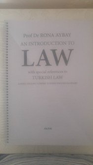 An Introduction To Law ( Turkish Law)