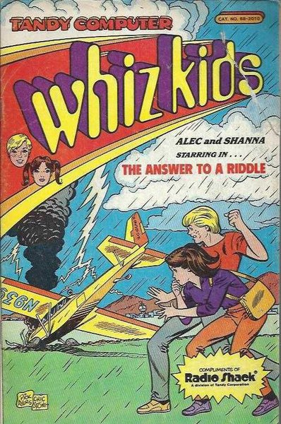 Whiz Kids Comic Book By Tandy Computer Cat. No. 68-2010
